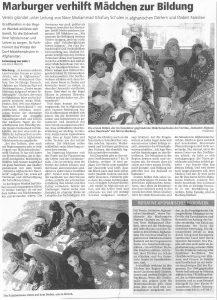 Marburger verhilft Mädchen zur Bildung