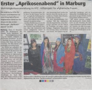 Bericht in der Oberhessischen Presse vom 10.10.11, Marburg