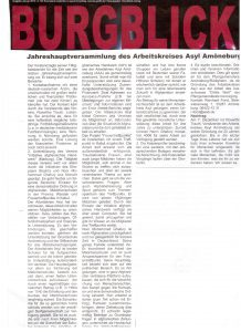 Jahreshauptversammlung des Arbeitskreises Asyl Amöneburg (Burgblick)