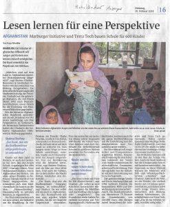 Lesen lernen für eine Perspektive (Hinterländer Anzeiger)