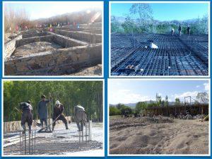 Das Fundamentaufbauen der Schule in Wardak