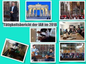 Tätigkeitsbericht der IAH vom 10.03. 2018 bis 06.04. 2019