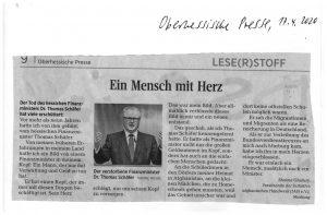 """""""Ein Mensch mit Herz"""" – Leserbrief von Shaima Ghafury in der Oberhessischen Presse vom 17.04.2020"""