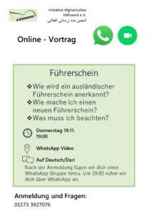 Online-Vortrag – Führerschein